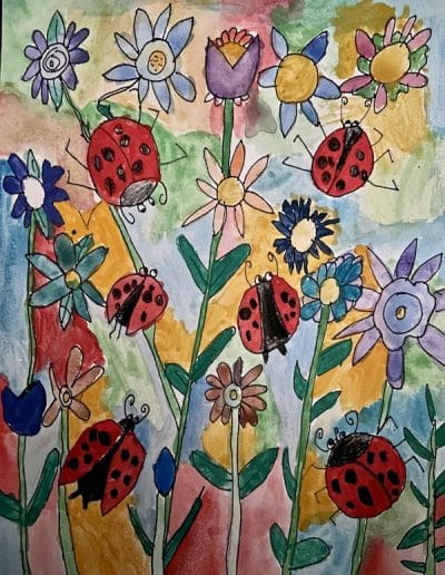 In my garden by Sadhana Previous Art of the Month