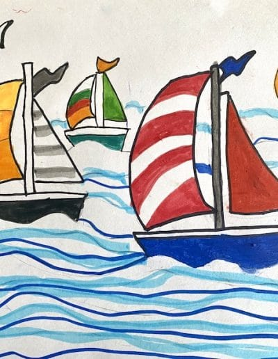 Sailing in summer by Nataly Previous Art of the Month
