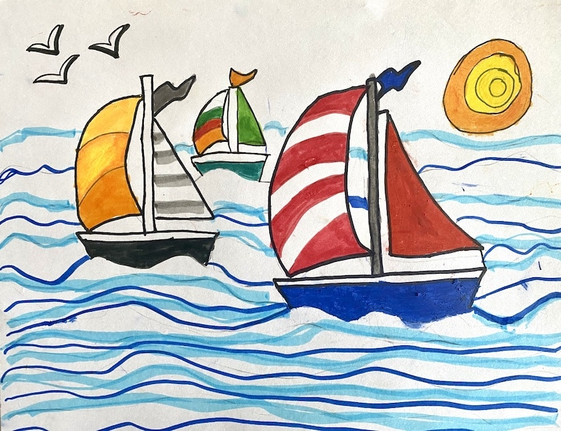 Sailing in summer by Nataly Student Work