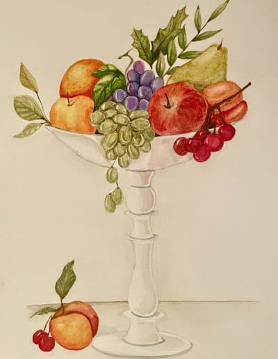 Fruit bowl water colors by Eesha Previous Art of the Month
